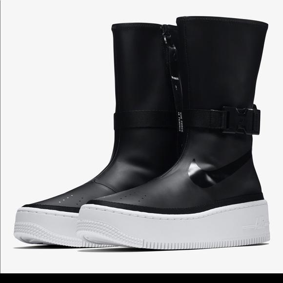 Air Force Af1 Sage Hi Black White Boot